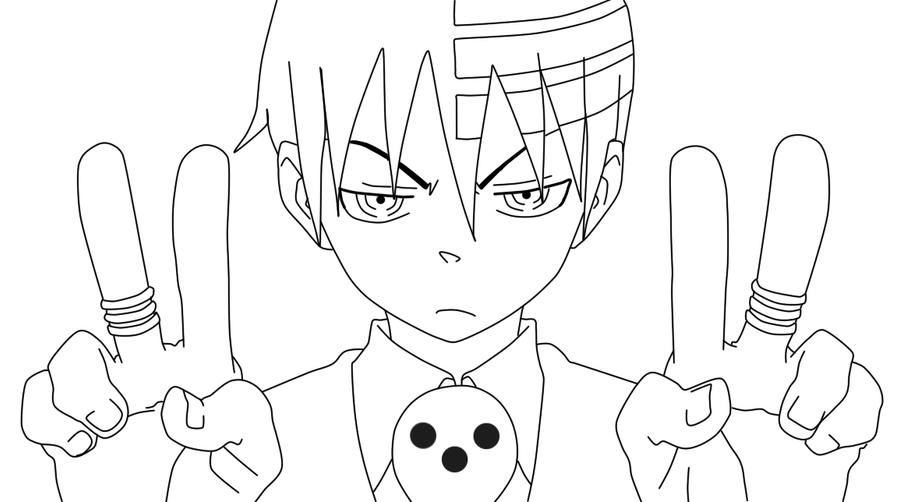 Death The Kid Lineart by Blacky-Sama on DeviantArt