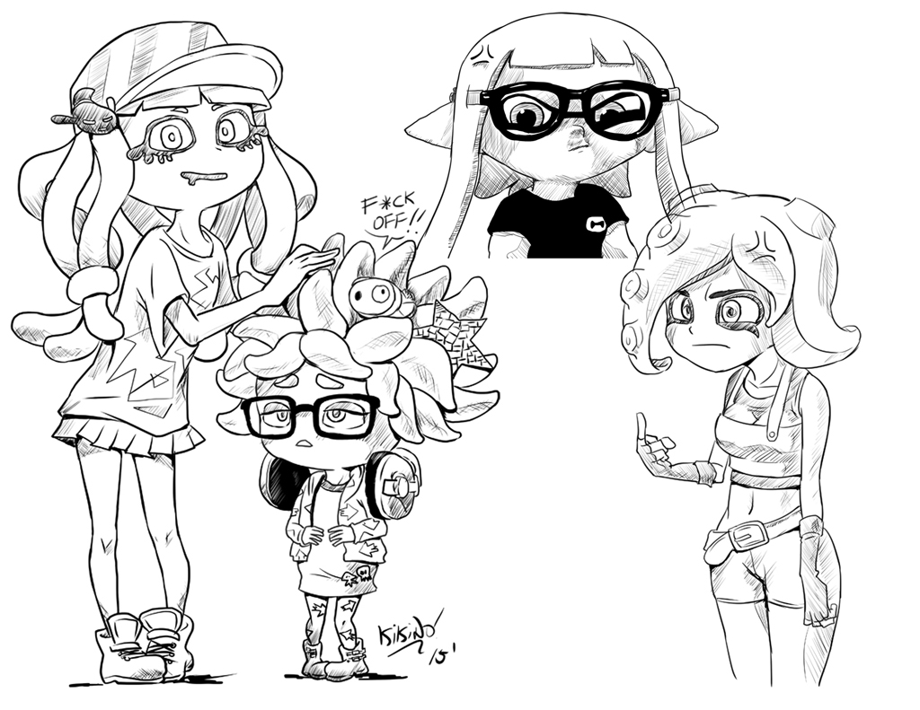 Image Result For Squid Coloring Pages
