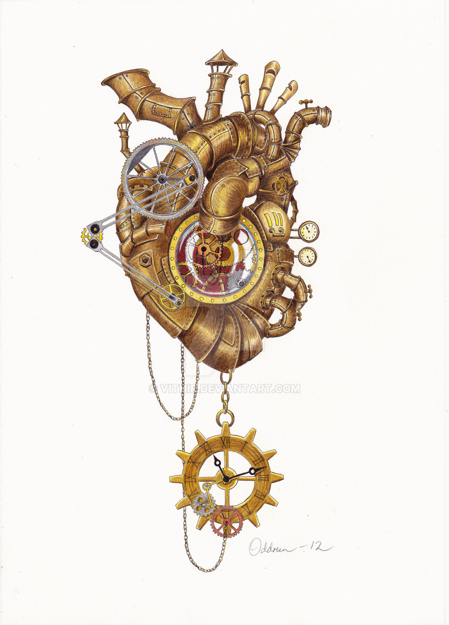 Steampunk Human Heart Steampunk Heart by Vitnir