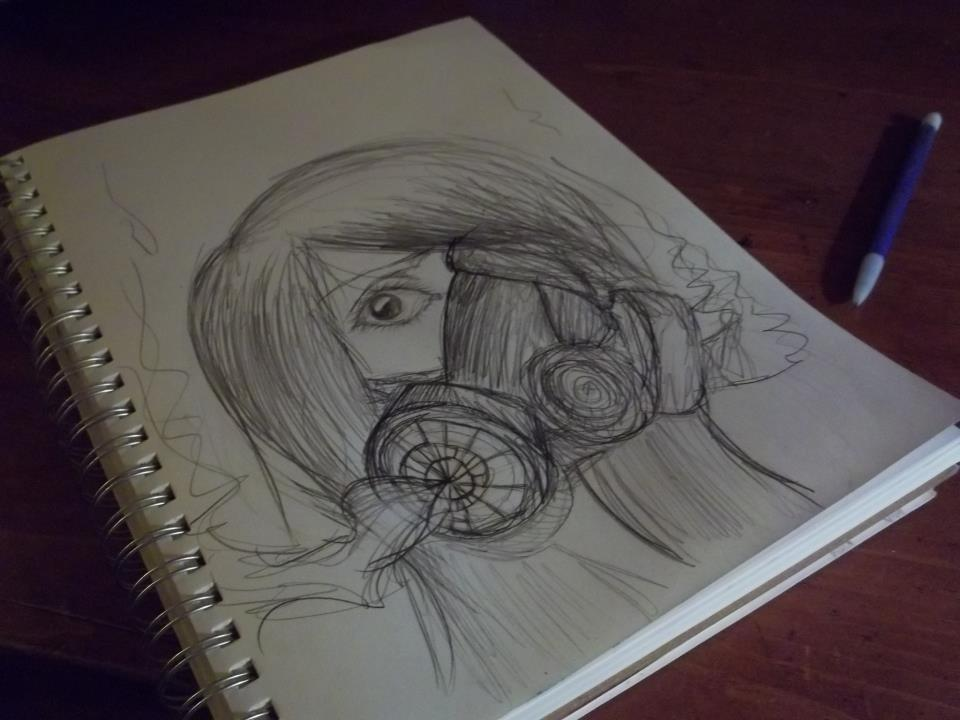 Gas Masks Drawing Gas Mask Drawing Tumblr Gas