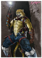 Cheetah Soldier Color by Defago