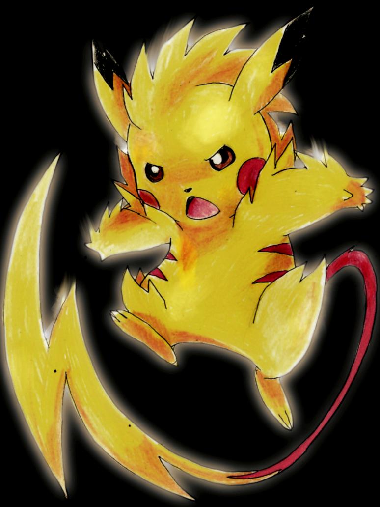mega pikachu by lucethehedgehog on deviantart