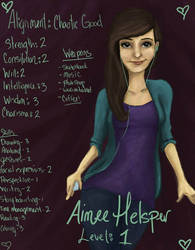illolife RPG Character Sheet by AimeeSH