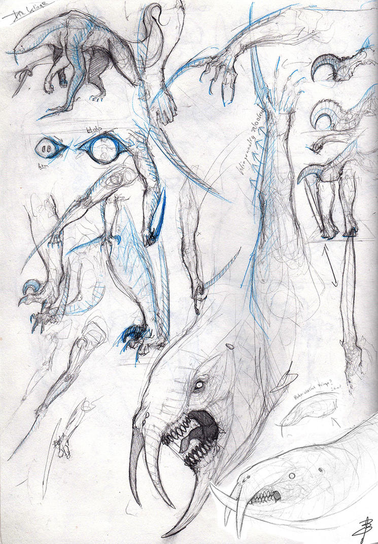 Creature Design 002 - Caliburn by Drase