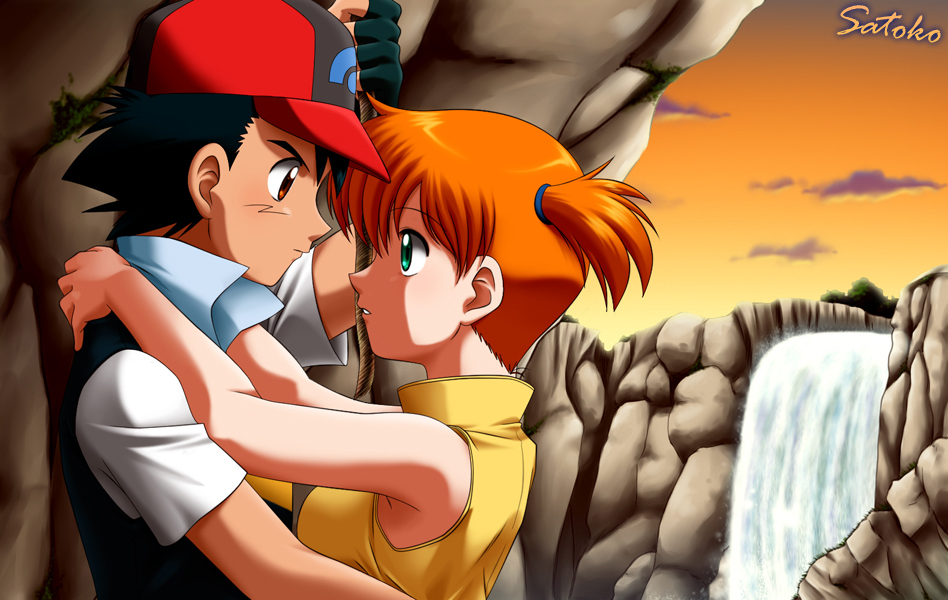 ash and misty kiss the girl № 334733