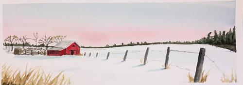 Snow scene by BRPyro