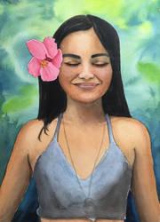 Flower In Her Hair by BRPyro