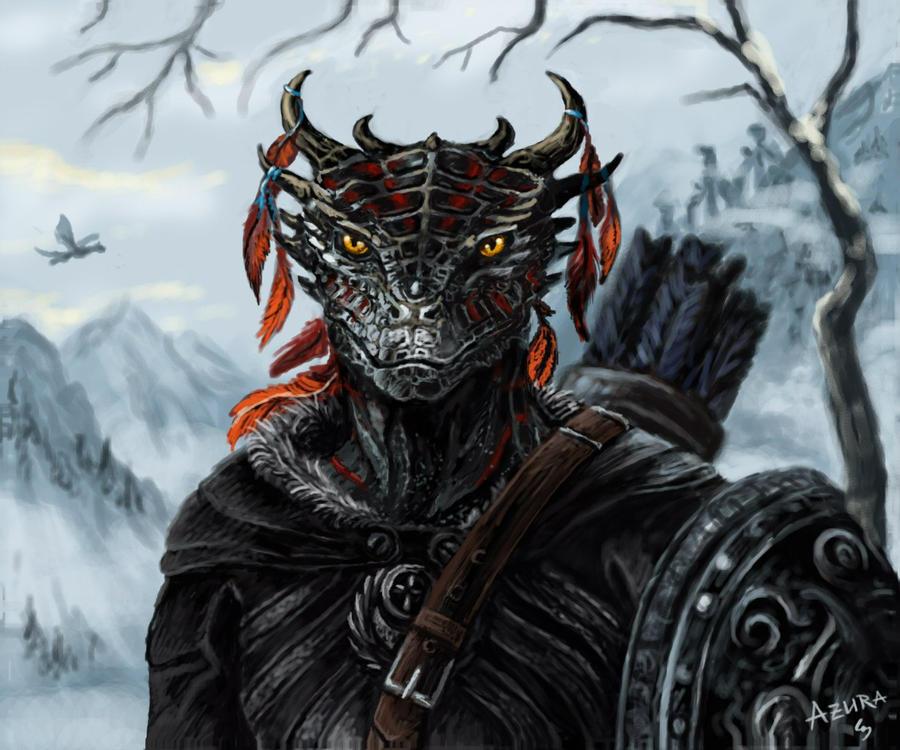 Kroag the Dovahkiin by AzuraThunderclaw