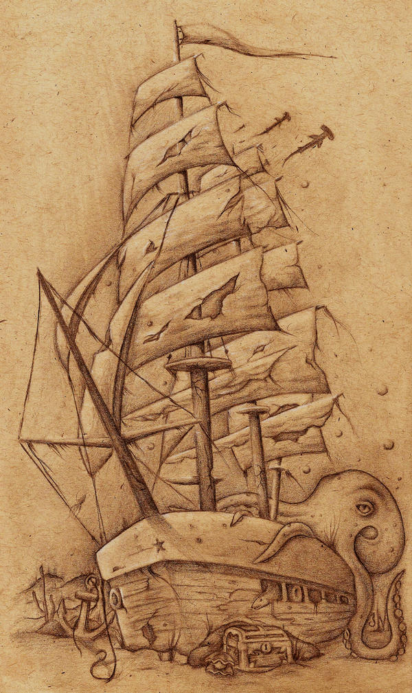 Ship Tattoo by JordanMendenhall on DeviantArt