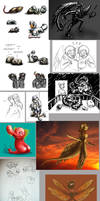 Homestuck Sketch Collection 8 by Eyes5