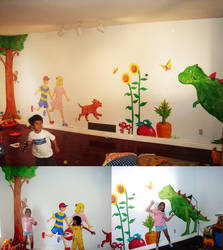Earthbound daycare wall by Eyes5