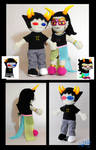 Feferi and Sollux plushies by Eyes5