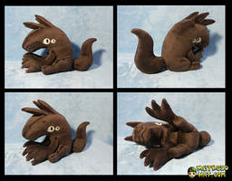 The Liar Princess Wolf Plushie prototype by Eyes5