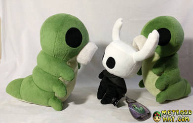 Hollow Knight Grub plushie official prototype by Eyes5