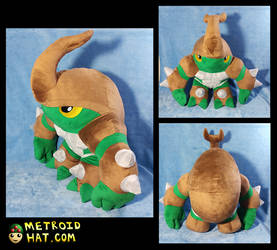 Kragg plushie. Official Rivals of Aether prototype by Eyes5