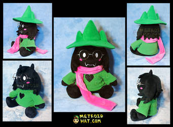 Ralsei from Deltarune official plushie prototype by Eyes5