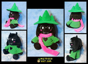 Ralsei from Deltarune official plushie prototype
