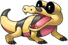 Sandile by arkeis-pokemon