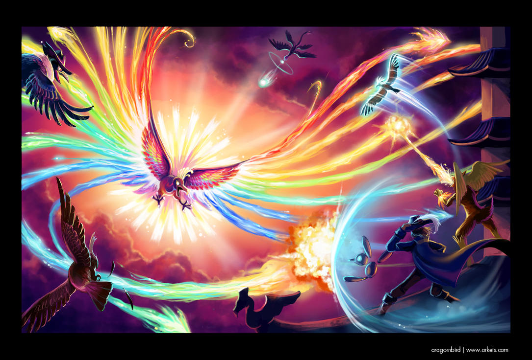 Vs Ho-oh and the Sacred Fire by arkeis-pokemon
