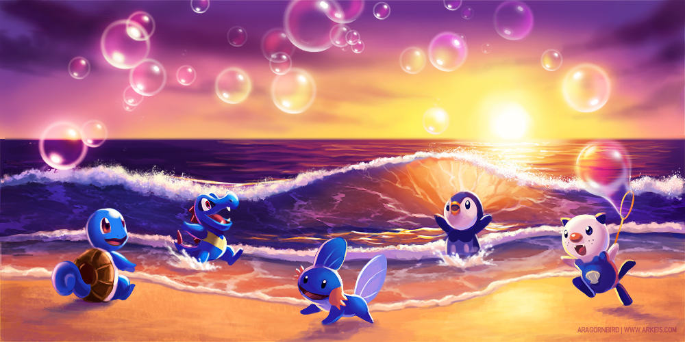 Bubbles at the Beach by arkeis-pokemon