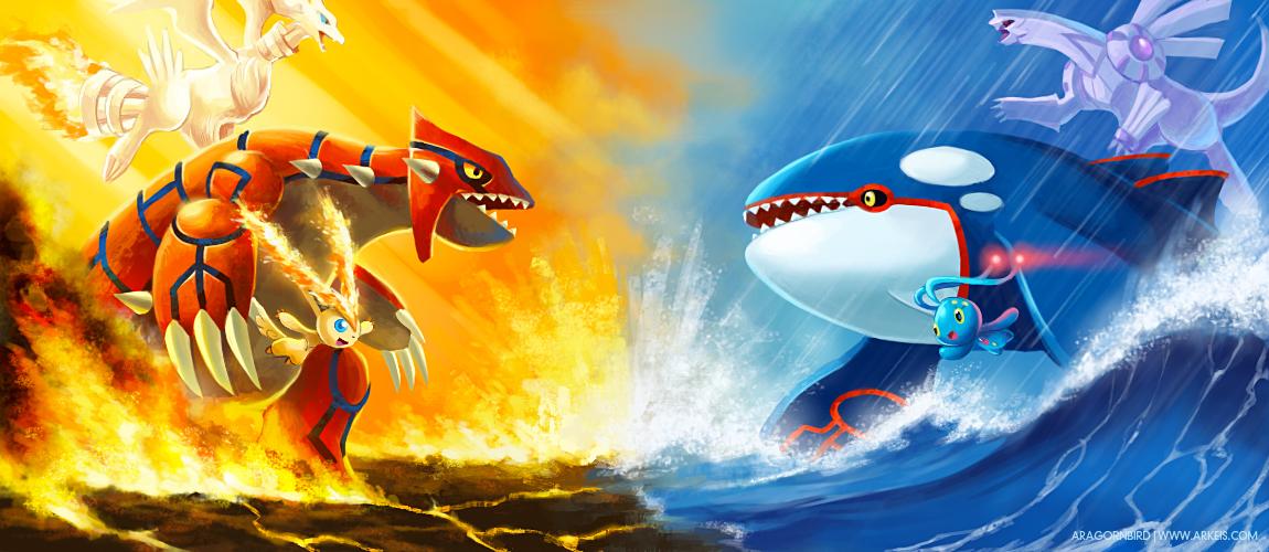 Sun vs. Rain by arkeis-pokemon