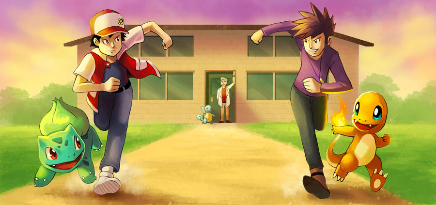 Pallet Town Rivals by arkeis-pokemon