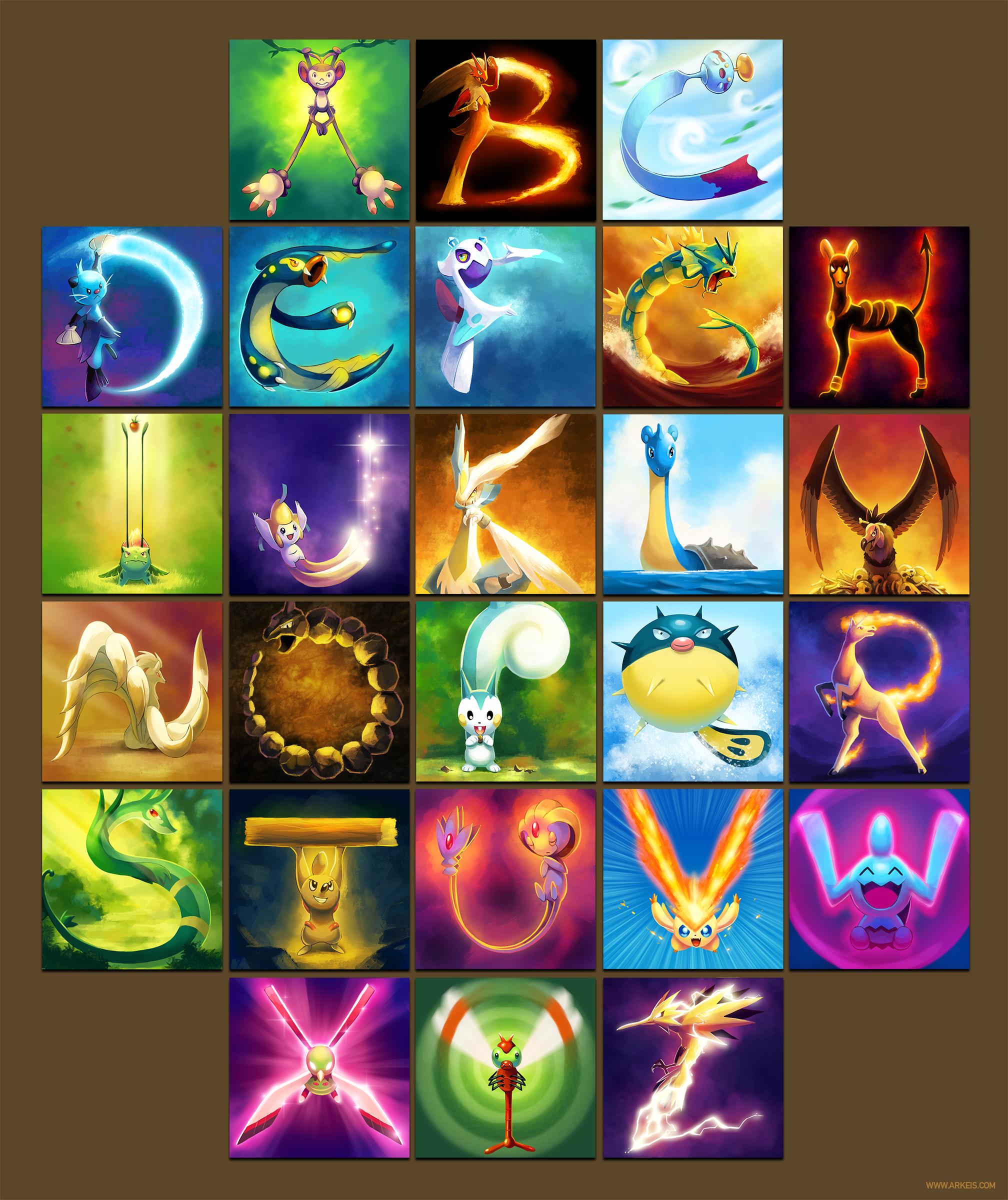 The Pokemon Alphabet