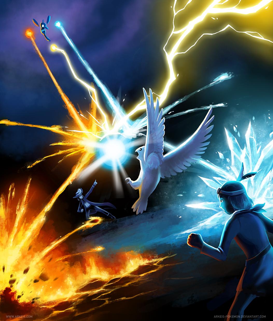 Elemental Clash : Harvey vs. Grace by arkeis-pokemon
