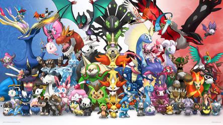 [Wallpaper] Generation 6 by arkeis-pokemon