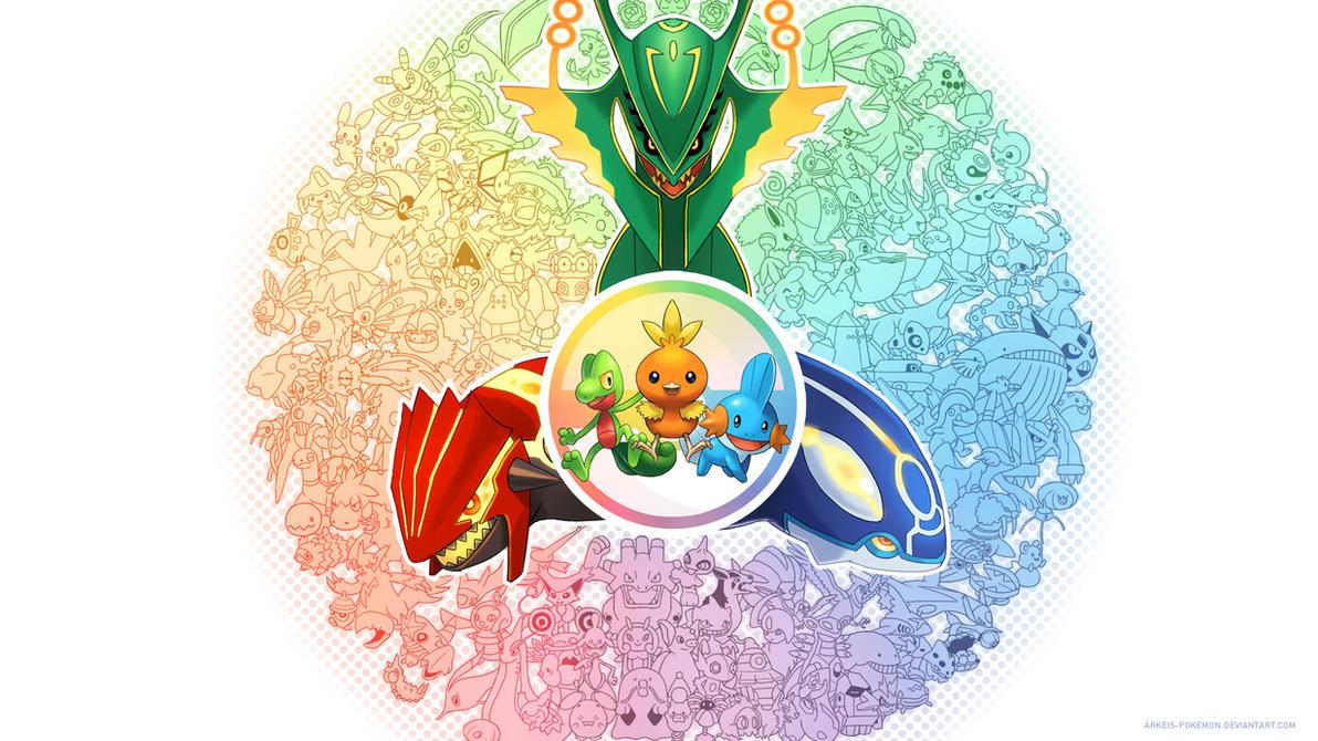 [Wallpaper] Generation 3 by arkeis-pokemon