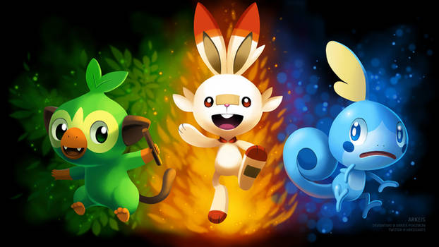 [Wallpaper] Pokemon Sword/Shield Starters