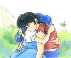 Ranma and Akane Hug