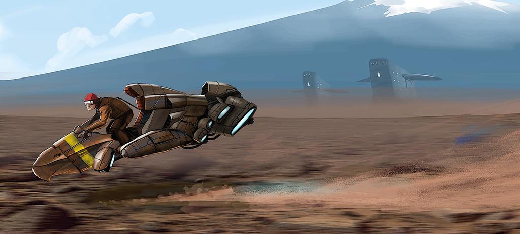 Skiff Patrol by petridish