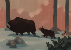 Musk Oxes