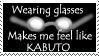 Wearing glasses... by Otogakure-Akatsuki