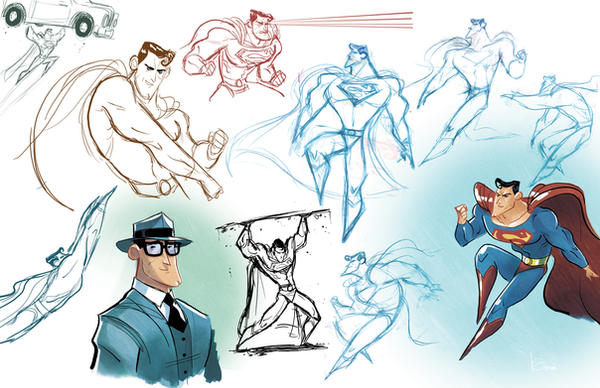 Superman sketches 02 by Javi-80