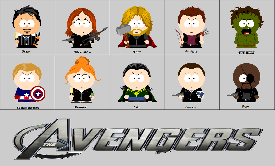 The Avengers Meet South Park by animemoon7