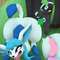 The New Shiny! (Glaceon TfTg) by MLPandFurrys