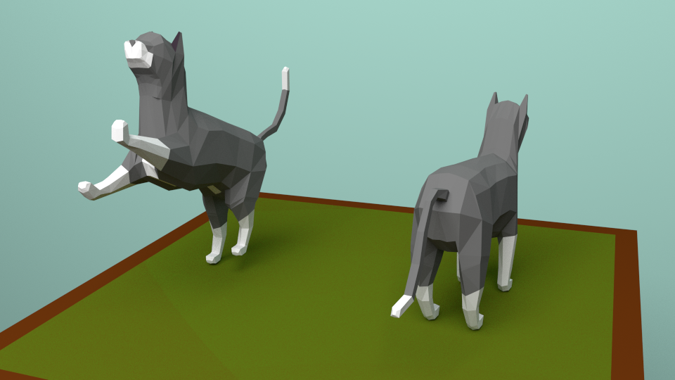 Cat Low-Poly by xeijin06 on DeviantArt