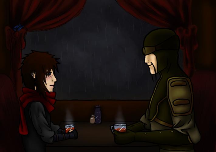 Tea with the Lieutenant by KasonSama