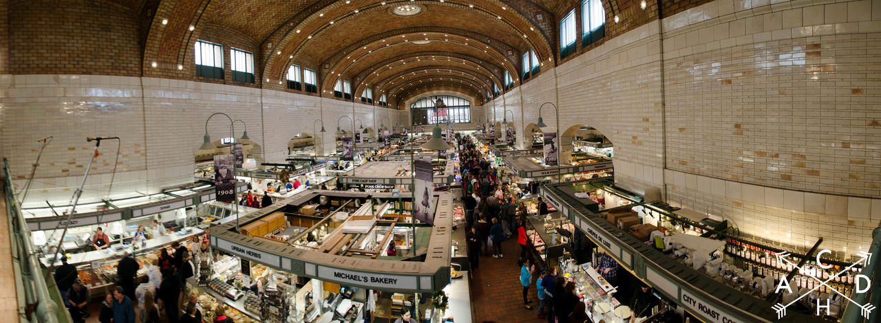 West Side Market Panorama by Gothguy720