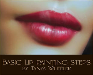 Basic lip painting steps by Cellesria