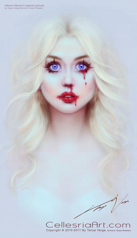 Allison Harvard inspired portrait by Cellesria