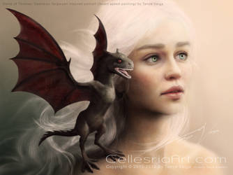Daenerys Targaryen inspired speed-painting video by Cellesria