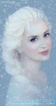 Emily Blunt as Elsa fan-art for time-lapse video