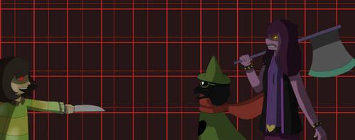 [Deltarune Genocide Run] vs Susie and Ralsei by LucielArt