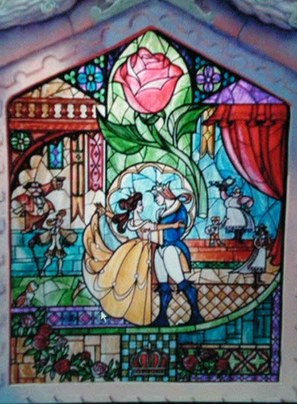 Beauty And Beast Stain Glass By Graphitemonsta On DeviantArt