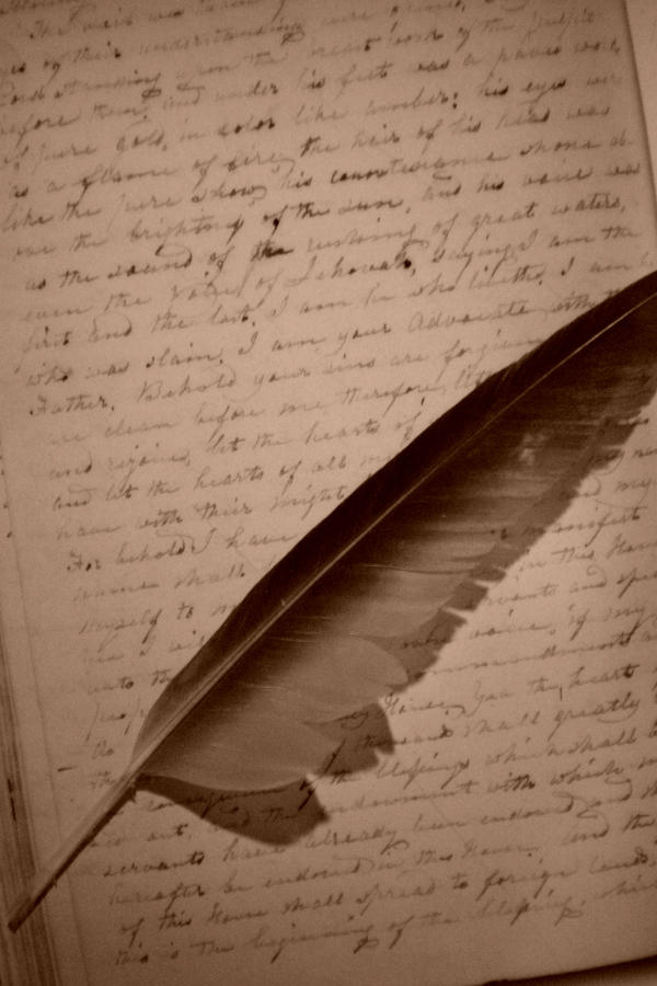 how to make an old fashioned feather pen