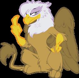 Gilda Flips The Bird Flat Colors