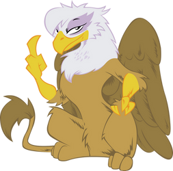 Gilda Flips The Bird Flat Colors